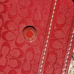 Red Coach card wallet